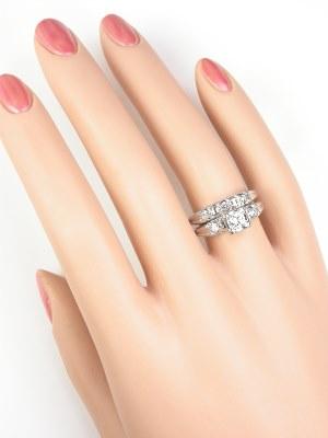 1950s Diamond Wedding Ring Set