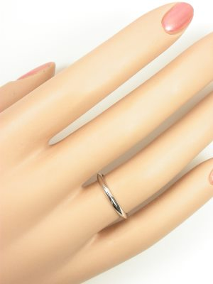 Platinum Knife Edge Vintage Wedding Ring