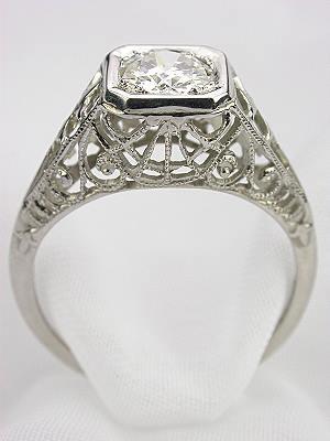 1930's Filigree Diamond Engagement Ring