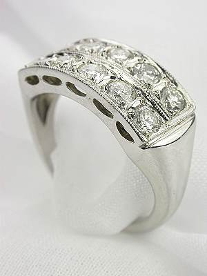 Diamond Wedding Band from the 1950s