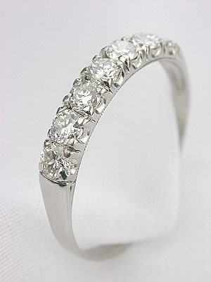 7 Stone Diamond Wedding Band in Platinum