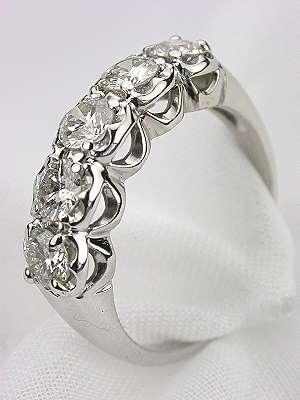 5 Stone Antique Diamond Wedding Ring