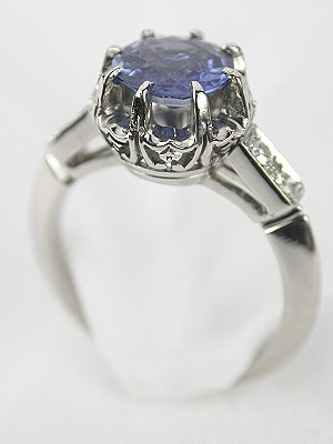 Sapphire and Diamond Antique Engagement Ring