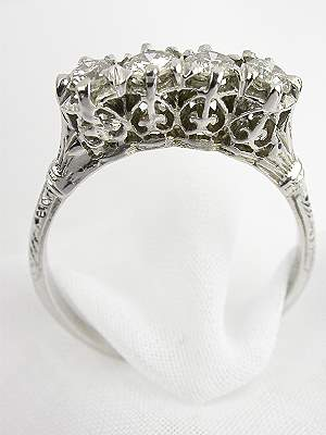 1930's Antique Diamond Wedding Ring