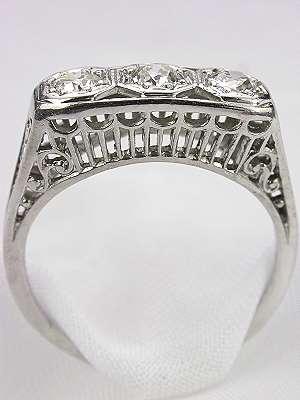 Old European Cut Diamond Antique Filigree Ring