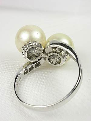 Vintage Pearl Engagement Ring