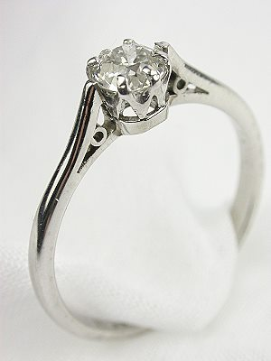 Old European Cut Diamond Engagement Ring