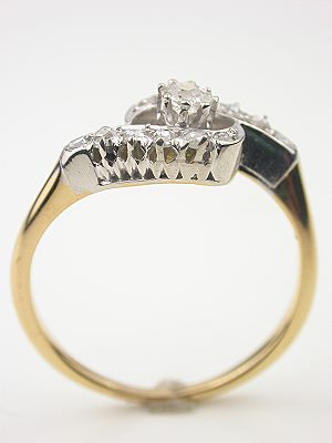 Hand-wrought Antique Diamond Engagement Ring