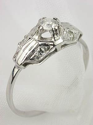 Antique French Art Deco Engagement Ring