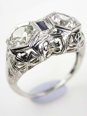 Edwardian Antique Ring with Sapphires