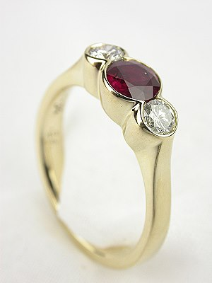 Ruby and Diamond Engagement Ring by DeAtley
