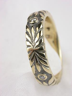 Contemporary Wedding Ring by DeAtley