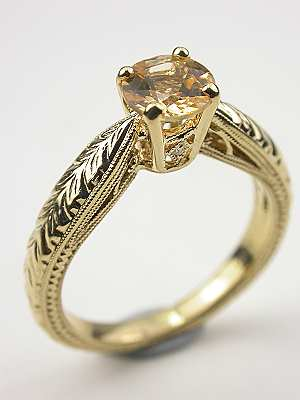 Topaz Engagement Ring in Yellow Gold