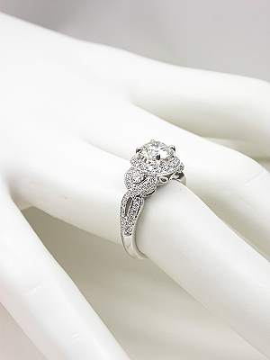 Romantic Diamond Engagement Ring