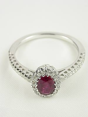 Contemporary Ruby Engagement Ring