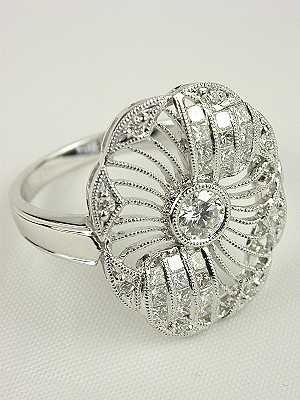 "Antique Style ""Circle of Light"" Diamond Ring"