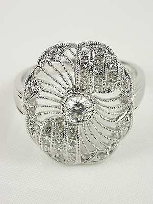 "Antique Style ""Circle of Light"" Diamond Ring"