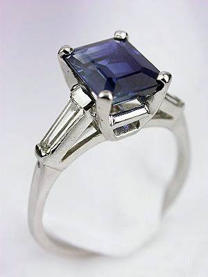 Vintage Sapphire Engagement Ring by J.B.Star