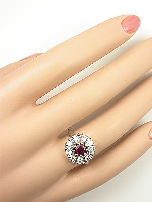 Ruby and Diamond Engagement Ring by Topazery