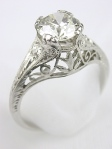 Edwardian Filigree Diamond Engagement Ring