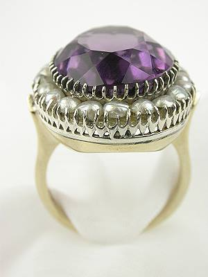 Antique Amethyst and Pearl Cocktail Ring