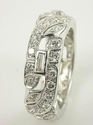1930s Platinum and Diamond Antique Eternity Band