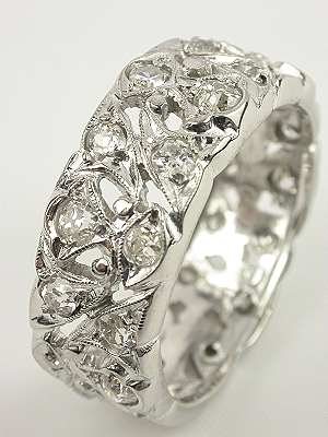 Extra Wide Antique Wedding Ring