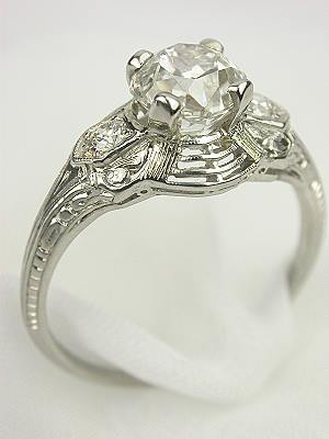 Antique Diamond Engagement Ring by C.D. Peacock