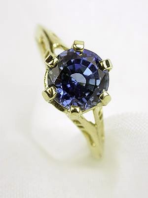 1920's Sapphire Vintage  Engagement Ring