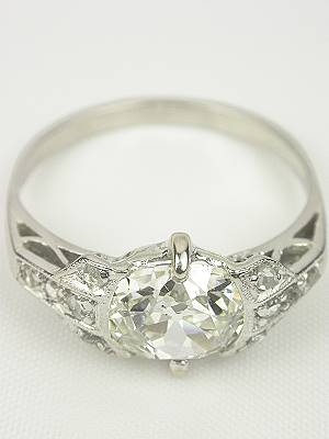 Vintage Engagement Ring with Old Mine Cut Diamond