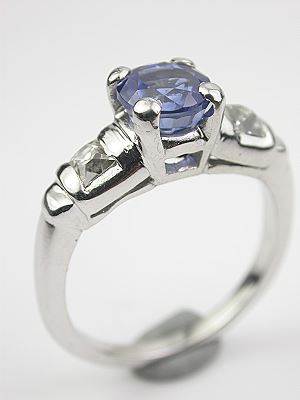Vintage Engagement Ring with Sapphire