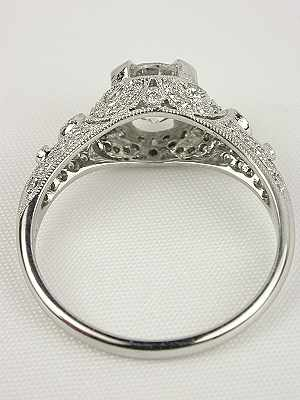 Edwardian Inspired Diamond Engagement Ring