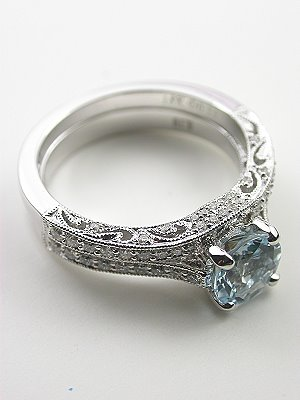 Vintage Inspired Filigree Wedding Ring