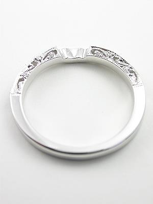 Antique Style Filigree Wedding Ring