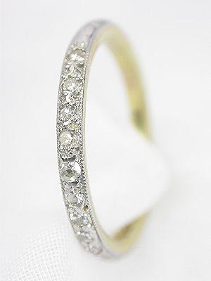 Edwardian Antique Diamond Wedding Ring