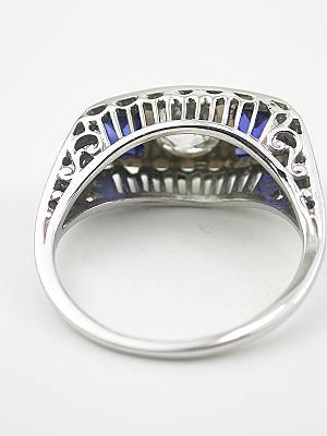 1920's Three Stone Antique Wedding Ring