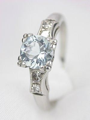 Edwardian Aquamarine Engagement Ring