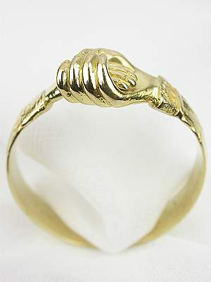 Antique Victorian Clasping Hands Ring
