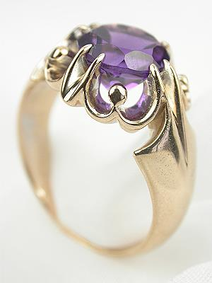 Victorian Amethyst Antique Cocktail Ring