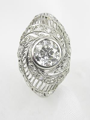 1930's Vintage Diamond Engagement Ring