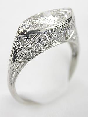 Romantic Antique Diamond Engagement Ring