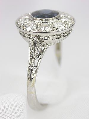 Edwardian Sapphire Antique Engagement Ring