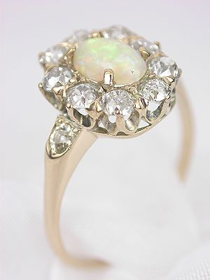 Edwardian Antique Opal Cocktail Ring