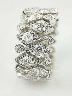 Art Deco Style Diamond Eternity Band