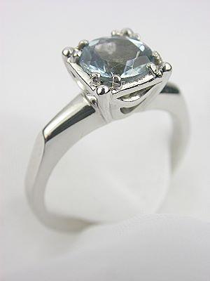 1945 Classic Aquamarine Engagement Ring