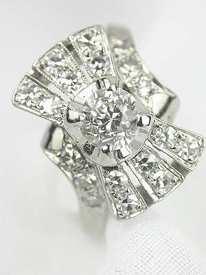 1920s Art Deco Diamond Engagement Ring