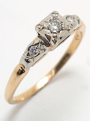 1935 Antique Diamond Engagement Ring