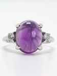 1950s Amethyst and Diamond Engagement Ring