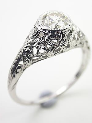 Antique Edwardian Filigree Engagement Ring
