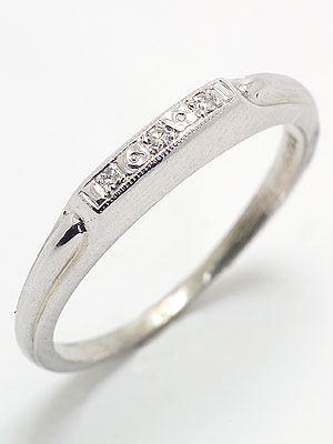 Art Carved Diamond Wedding Ring